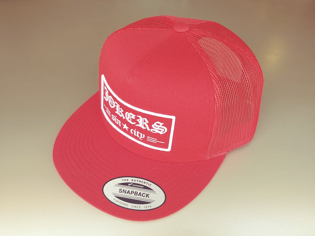 Jokers Old E Red Trucker
