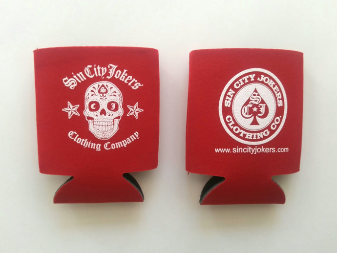 Sugar Skull Coozie (Red)