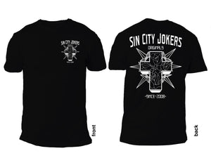 SCJ Ol' Skool Cross #3 Black Tee