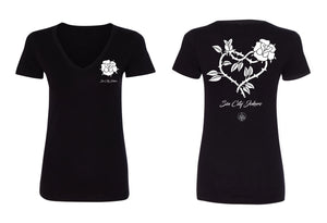 SCJ Rose Heart Womens Tee