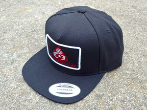 SCJ Spade 5-Panel Snapback (Maroon and White)
