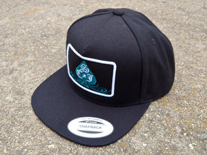 SCJ Spade 5-Panel Snapback (Teal and White)