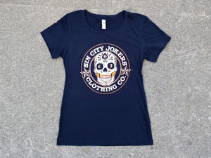 SCJ Sugar Skull Ladies Crewneck Tee