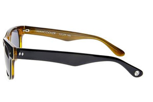 Tres Noir Waycooler Glasses (black + honey tortoise)