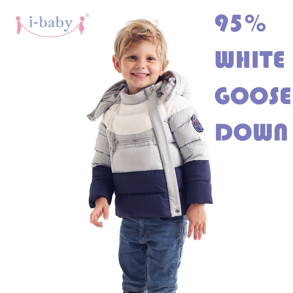 e3b548c48b19 i-baby Down Coat Outlast Kids Patchwork Outwear Hooded Baby Cozy ...