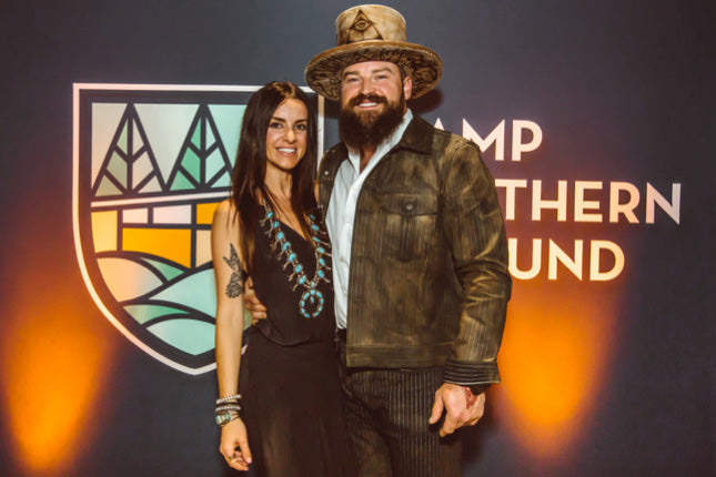 Shelly Brown and Zac Brown for Camp Southern Ground