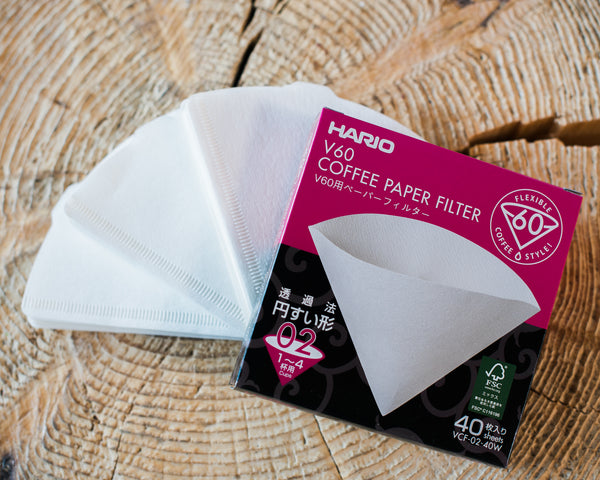 Hario V60 Filters - White (40 Pack)