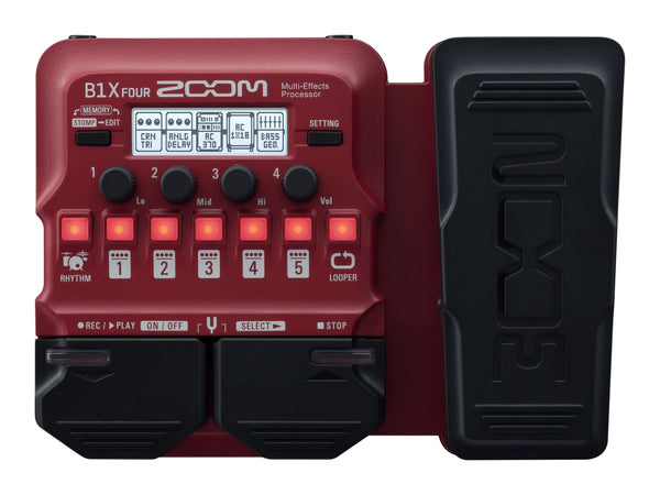 Zoom B1X FOUR Guitar Multi-Effects Processor with Expression Pedal