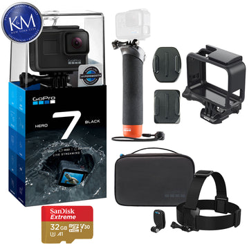 GoPro Hero 7 (Black) Action Camera + GoPro Adventure Kit Essential Bundle