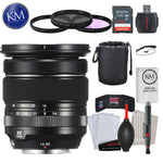 FUJIFILM XF 16-80mm f/4 R OIS WR Lens with Advance Striker Bundle: Includes – SD Card Reader, 3pc Filter Set, Cleaning Kit, and Lens Pouch.