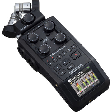 Zoom H6 Portable Handy Recorder with Single Mic Capsule - Black