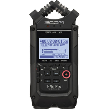 Zoom H4n Pro 4-Channel Portable Recorder (Black) w/ 32GB SD Card, Headphones & Lavalier Microphone