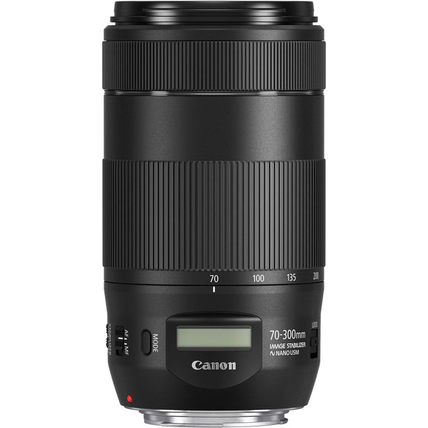 Canon EF 70-300mm f/4-5.6 IS II USM Lens with Advance Striker Bundle: Includes – SD Card Reader, 3pc Filter Set, Cleaning Kit, Large Monopod, and Lens Pouch.
