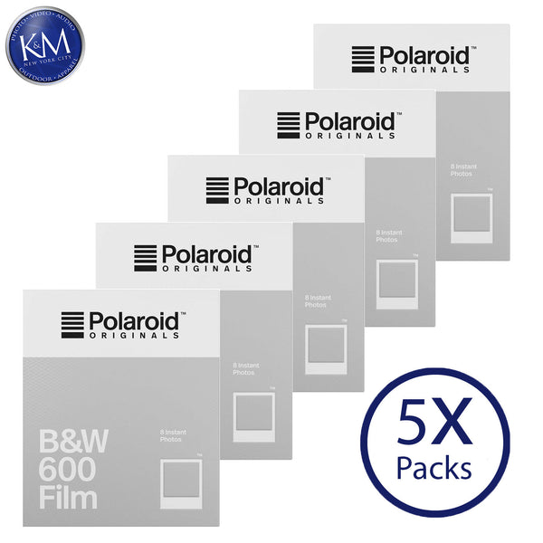 Polaroid Originals Black & White 600 Instant Fresh Film (40 Exposures) - 5 Pack