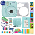 Fujifilm instax Mini 9 Instant Camera Ice Blue + 30 Fresh Exposures + Silicone Cover + Instax Accessories Bundle | 16pc Accessory Includes: Album, Lenses, Stickers, and More!