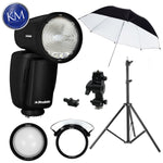 Profoto A1X AirTTL-S Studio Light for Sony w/ Umbrella, Lightstand and Swivel Bundle