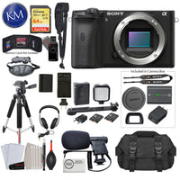 Alpha a6600 Mirrorless Digital Camera (Body Only) with Video Bundle: Includes – Sandisk Extreme Card, Spare NPFZ100 Battery, Charger for NPFZ100, and more!