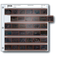 Print File 35mm Size Archival Storage Pages for Negatives | 6-Strips of 6-Frames - 25 Pack