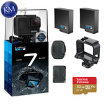 GoPro Hero 7 (Black) Action Camera w/ 2 Extra Batteries Bundle
