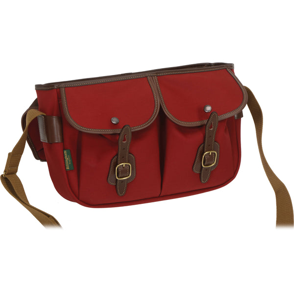 Billingham Hadley Pro Shoulder Bag - Burgundy with Chocolate Leather Trim