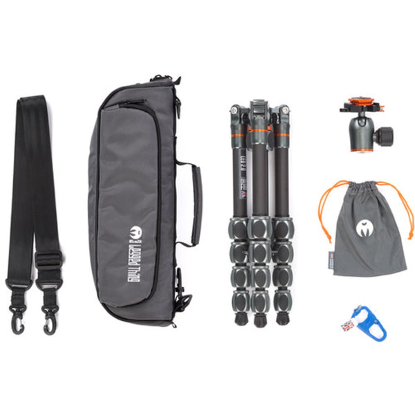 3 Legged Thing Leo 2.0 Tripod Kit with AirHed Pro Lever Ball Head (Gray)