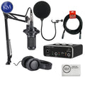 Audio Technica AT2035PK Streaming/Podcasting Pack with Pop Filter and USB Audio Interface: Includes – AT2035 Microphone, ATH-M20x Headphones and Adjustable Studio Boom Arm
