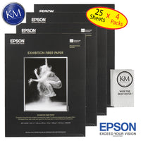 "Epson Exhiition Fier Paper 8.5""x11"" 25 Sheets - 4 Pack"