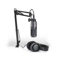 Audio Technica AT2020USB+PK Streaming/Podcasting Pack with Pop Filter: Includes – AT2020USB+ Microphone, ATH-M20x Headphones, and Adjustable Studio Boom Arm.