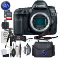 Canon EOS 5D Mark IV DSLR Camera (Body Only) with Striker Deluxe Bundle