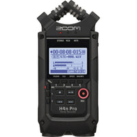 Zoom H4n Pro 4-Channel Portable Recorder (Black) w/ 32GB SD Card, Headphones & APH-4nPro Accessory Pack