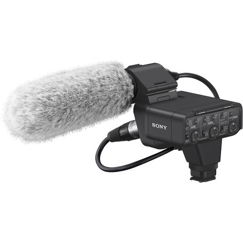Sony XLR-K3M Dual-Channel XLR Audio Adapter Kit with Shotgun Microphone
