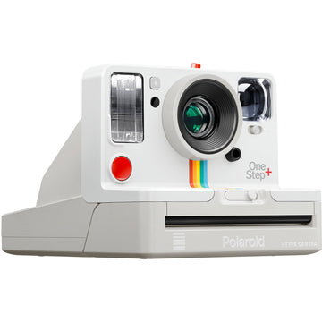 Polaroid Originals OneStep+ Instant Film Camera (White) with Essential Striker Bundle: Includes – Cleaning Kit, Film (8 Exposures), and Micro Fiber Cloth.