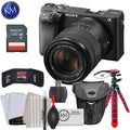 Sony a6400 Mirrorless Digital Camera w/ 18-135mm Lens, 32GB & Essential Bundle