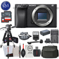 Sony Alpha a6400 Mirrorless Digital Camera Body Only (Black) and Striker Deluxe Bundle