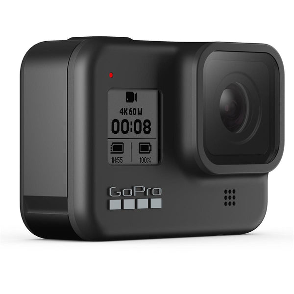 GoPro HERO8 Black Action Camera w/ GoPro Dual Lithium-Ion Battery Charger with 1 x Battery and 32GB Memory Card