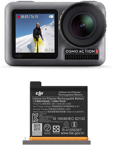 DJI Osmo Action Camera with Extra DJI Battery