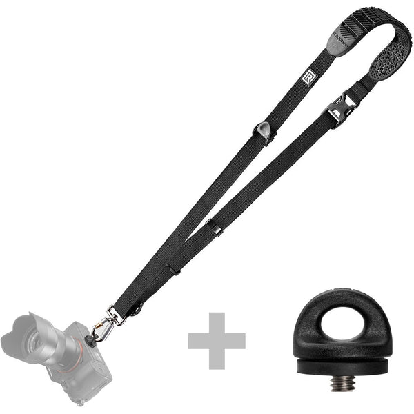 BlackRapid Cross Shot Bundle - Cross Shot-BK and Extra FR-5 Lightweight Series - Black