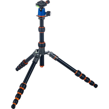 3 Legged Thing Corey Aluminum Travel Tripod with AirHed Neo Ball Head - Blue and Orange