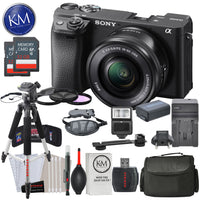 Sony Alpha a6400 Mirrorless Digital Camera w/ 16-50mm Lens (Black) and Striker Deluxe Bundle