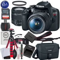 Canon EOS Rebel T7 DSLR Camera with 18-55mm Lens + 32GB + Essential Photo Bundle