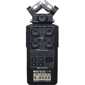Zoom H6 Portable Handy Recorder with Single Mic Capsule (Black)