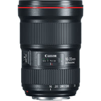 Canon EF 16-35mm f/2.8L III USM Lens with Advance Striker Bundle: Includes – SD Card Reader, 3pc Filter Set, Cleaning Kit, Large Monopod, and Lens Pouch.