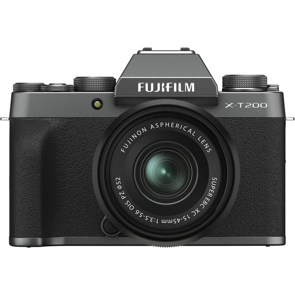 Fuji X-T200 Mirrorless Digital Camera with XC 15-45mm f/3.5-5.6 Lens (Dark Silver)