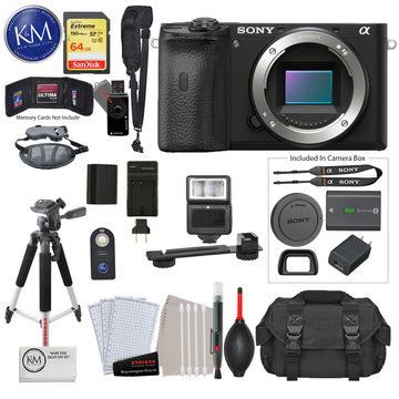Alpha a6600 Mirrorless Digital Camera (Body Only) with Deluxe Bundle: Includes – Sandisk Extreme Card, Spare NPFZ100 Battery, Charger for NPFZ100, and more!