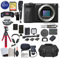 Alpha a6600 Mirrorless Digital Camera (Body Only) with Video Bundle: Includes – Sandisk Extreme Card, Spare NPFZ100 Battery, Charger for NPFZ100, and 12 inch tripod