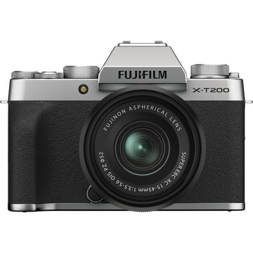 Fuji X-T200 Mirrorless Digital Camera with XC 15-45mm f3.5-5.6 Lens - Silver