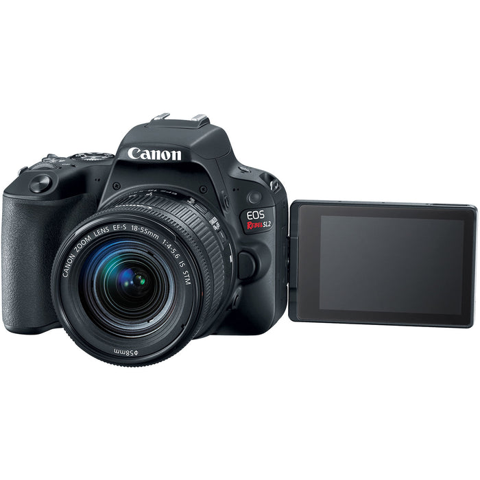Canon EOS Rebel SL2 DSLR Camera with 18-55mm Lens - Black