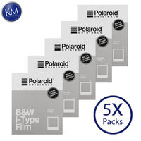 Polaroid Originals Black & White i-Type Instant Fresh Film (40 Exposures) - 5 Pack