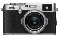 FUJIFILM X100F Digital Camera (Silver) with Advanced Striker Bundle: Includes – Memory Card, Large Tripod, Camera Bag, and Cleaning Kit.
