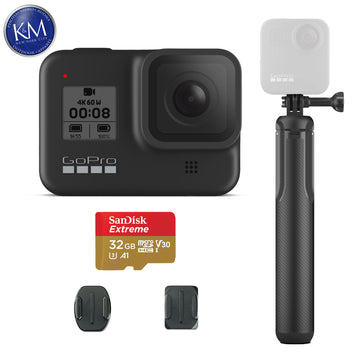 GoPro HERO8 Black Action Camera w/Max Grip and Tripod